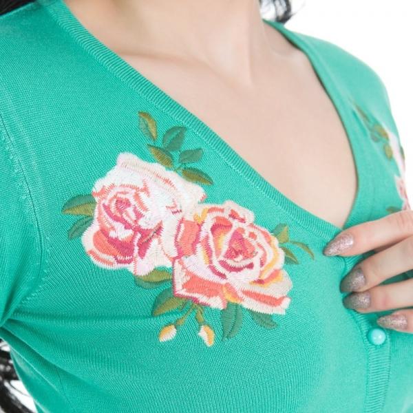 Neuletakki, HR New Rose Green (0151)