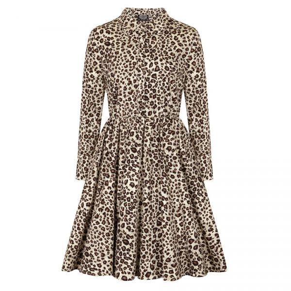 Swing Dress, LENA LEOPARD (106)
