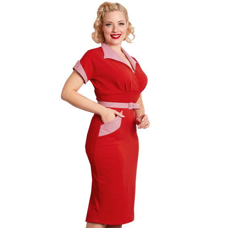 Pencil Dress, Miss Candyfloss Philipa-Lava (1189ch)