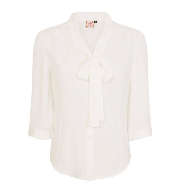 Blouse, PERFECT PUSSYBOW Offwhite (14030)