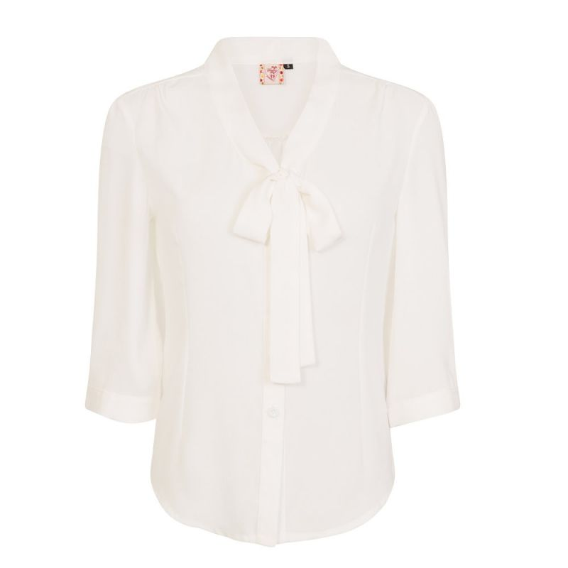 Pusero, PERFECT PUSSYBOW Offwhite (14030)