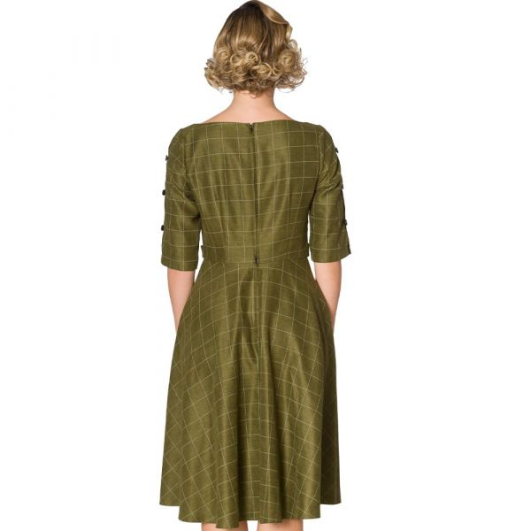 Swing Dress, LIBRARY Khaki (16220)