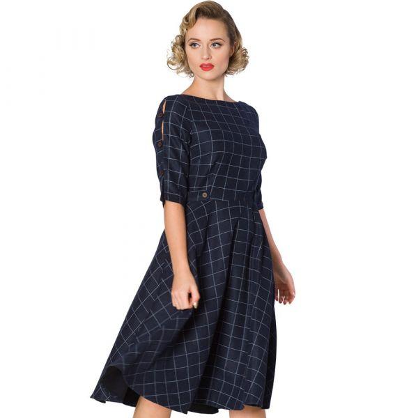 Swing Dress, LIBRARY Navy (16220)