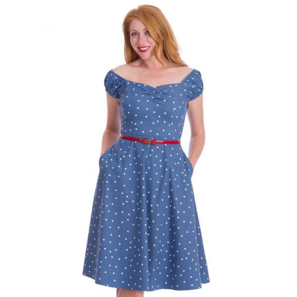 Swin Dress, SHERRY SPOT Blue (16506)