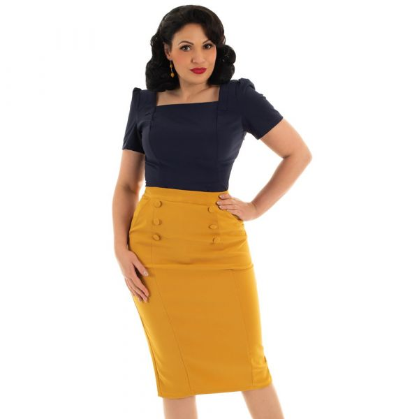 Pencil Skirt, JACKLYN Gold (180)