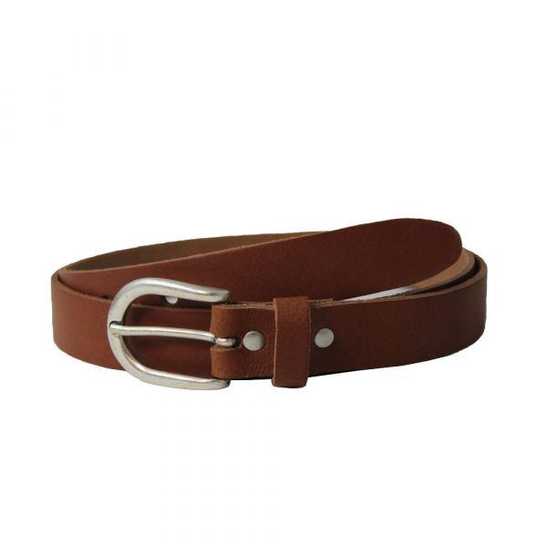 Leather Belt, VINTAGE LUCK Brown (22147)