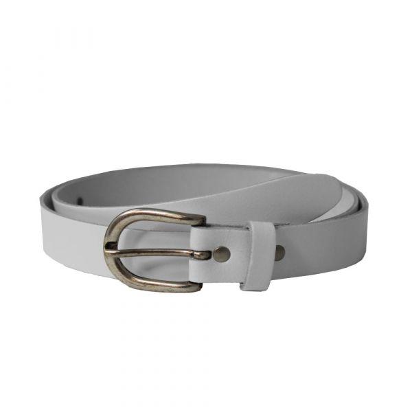 Leather Belt, VINTAGE LUCK White (22149)