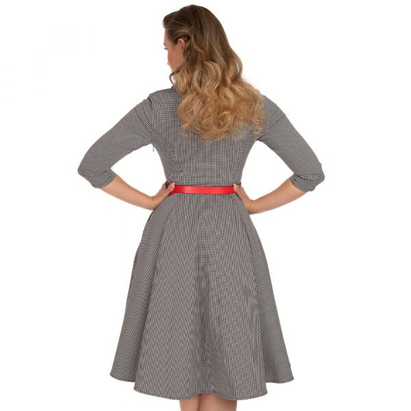 Swing Dress, HR Ava Houdstooth (223)