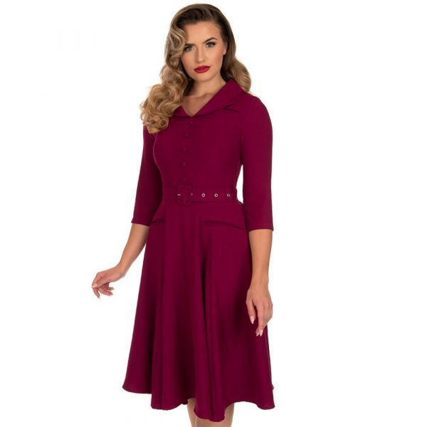 Swing Dress, HR Gabriella Plum (225)