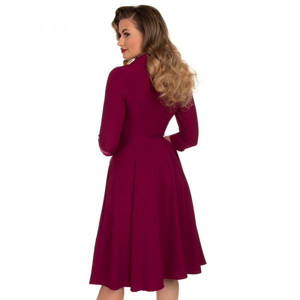 Swing Dress, HR Gabriella Plum (225)