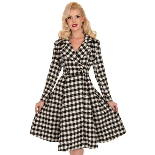 Coat, HEATHER Swing Check (239)