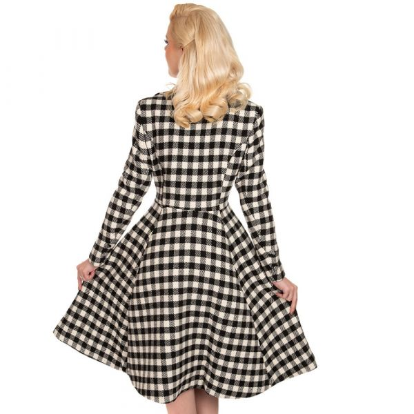 Coat, HEATHER Swing Check (239)