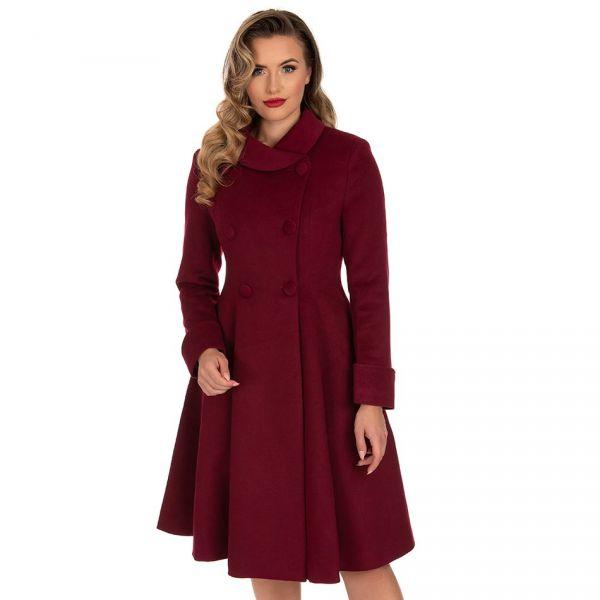 Coat, GRACE Swing Burgundy