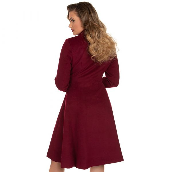 Coat, GRACE Swing Burgundy