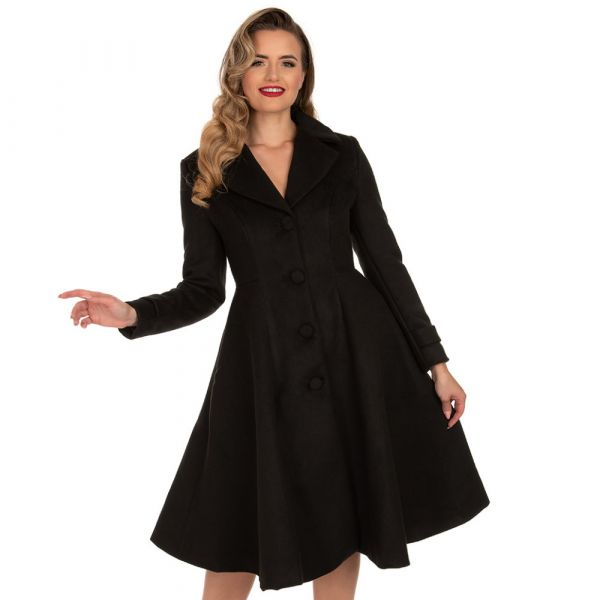 Coat, PHOEBE Swing Blk (244)