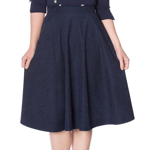 Swing Skirt, LADY Navy (25115)