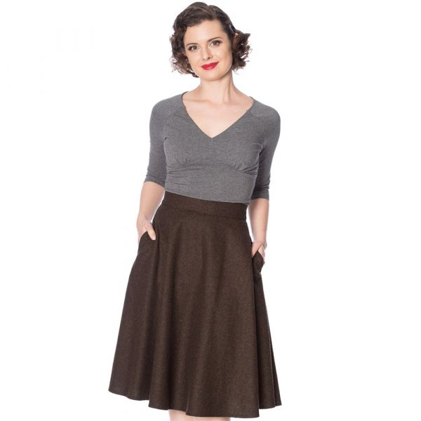 Swing Skirt, SASSY Brown (25118)