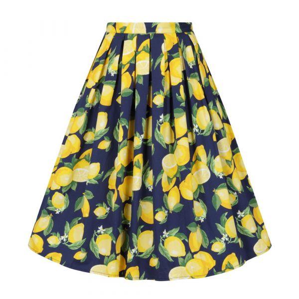 Swing Skirt, LEMON PLEAT Navy (25136)