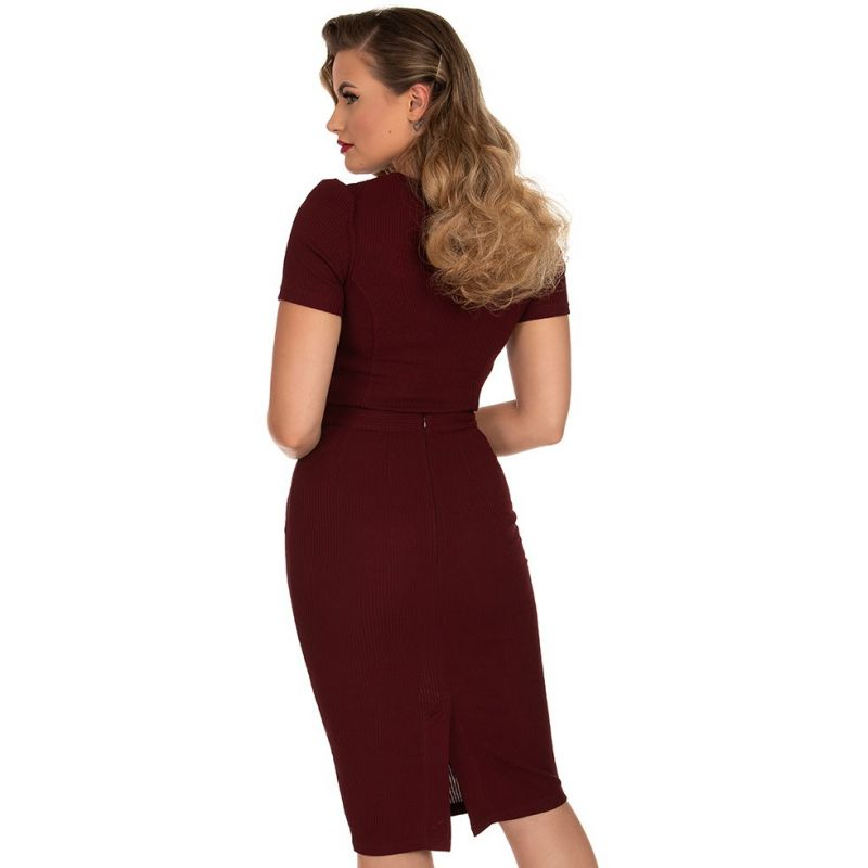 Hame, SALLY Knitted Burgundy (257)