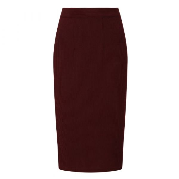 Skirt, SALLY Knitted Burgundy (257)