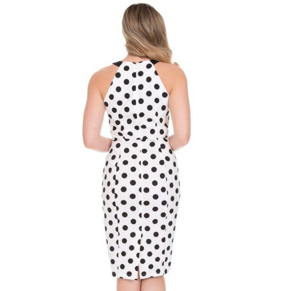 Wiggle Dress, HR Pearl Polkadot (273)