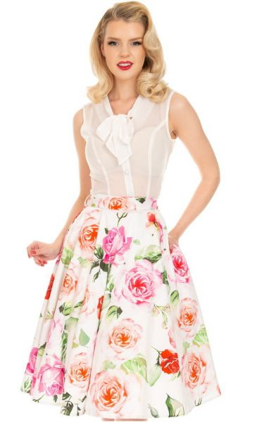 Swing Skirt, HR Scarlett Floral (311)