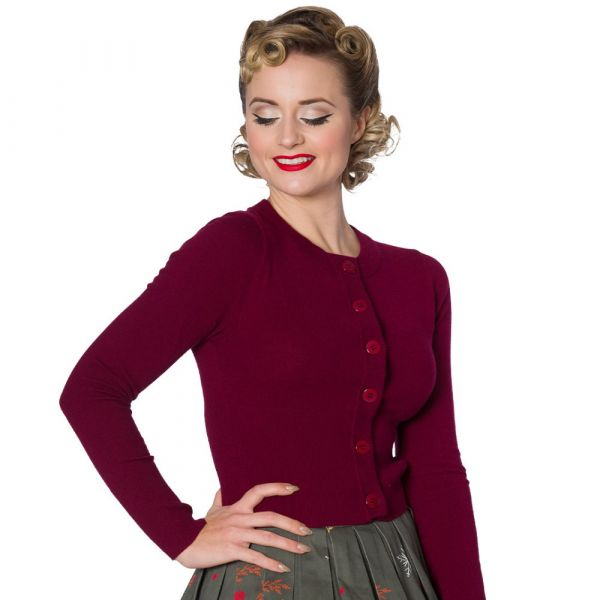 Cardigan, DOLLY Burgundy (CA3175)