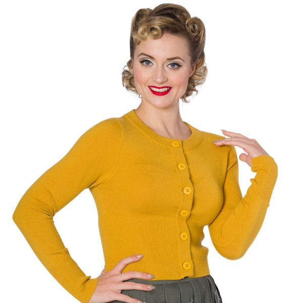 Cardigan, DOLLY Mustard (CA3175)