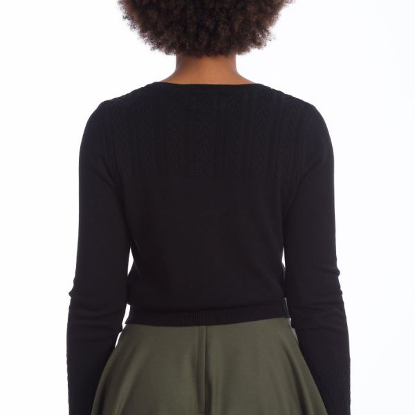 Cardigan, GOSH GIRL Black (21059)