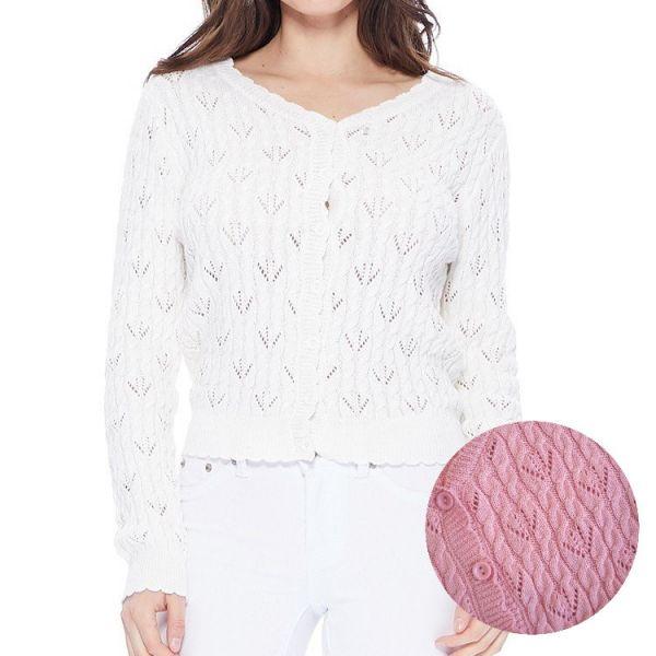 MAK Cardigan, Pointelle Light Pink