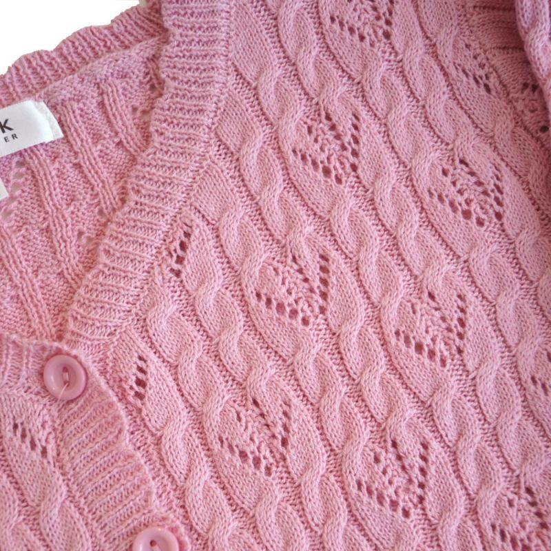 MAK Neuletakki, Pointelle Light Pink