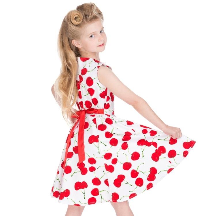 Lasten Kellomekko, HR Bombshell Cherry Valkoinen (4085)
