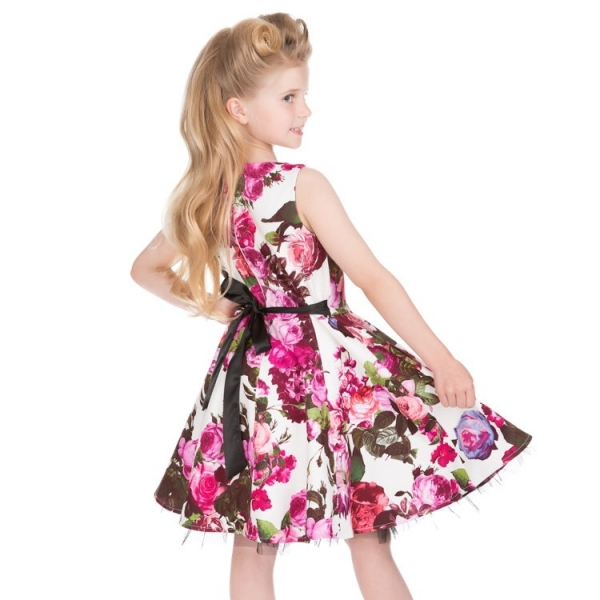 Kids Swing Dress, HR Audrey 50s Floral (4087)