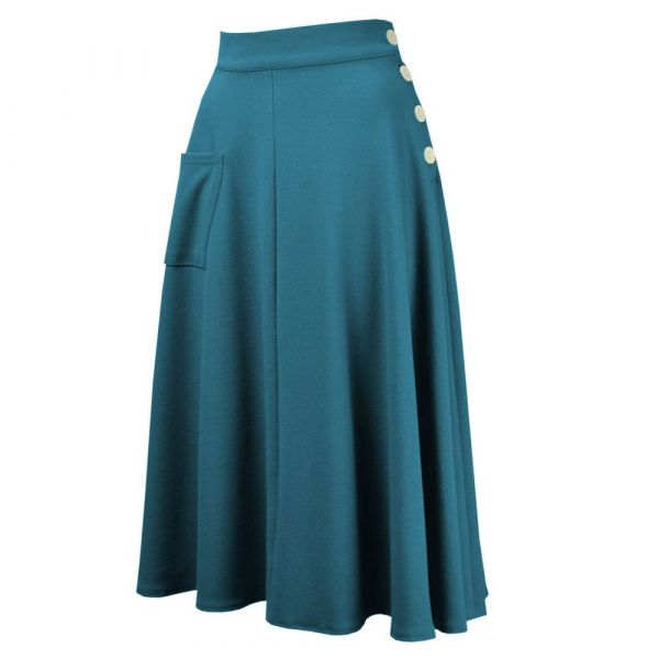 Skirt, 40s WHIRLAWAY Teal