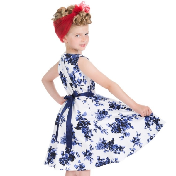Kids Swing Dress, HR Blue Rosa (4104)
