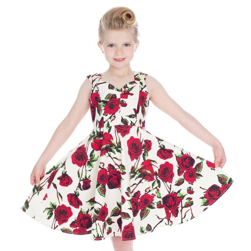 Lasten Kellomekko, Ditsy Rose (4135)