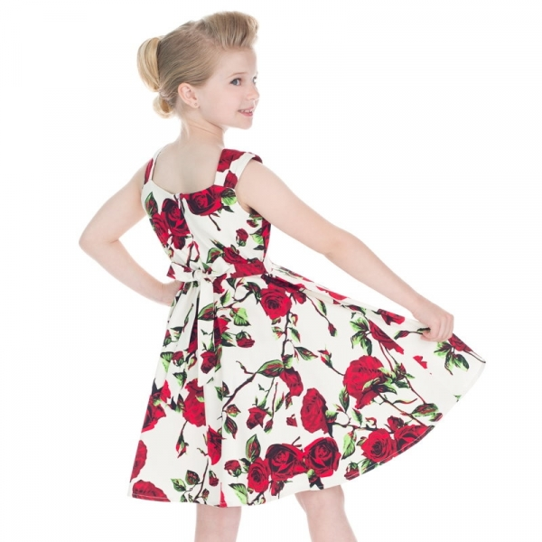 Kids Swing Dress, Ditsy Rose (4135)