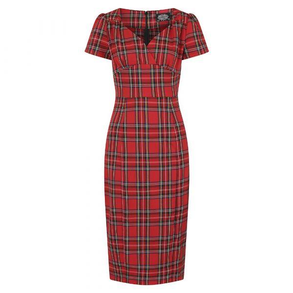Pencil Dress, HR Highland Red (142)