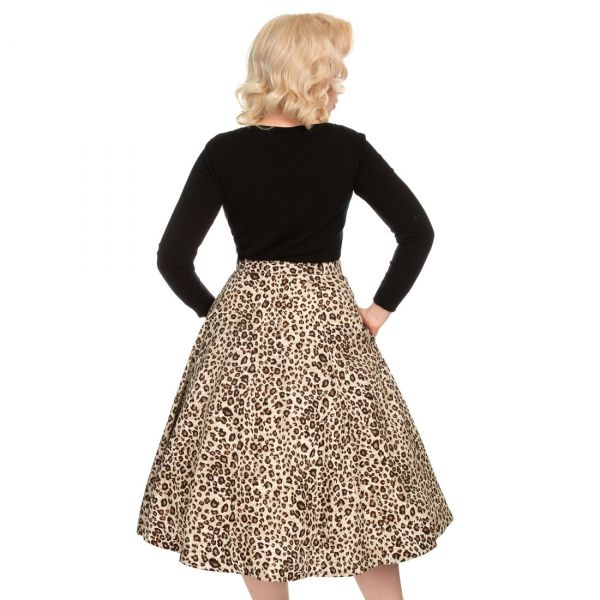 Swing Skirt, HR Leopard (4389)