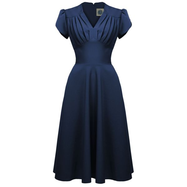 Swing Dress, PRETTY RETRO 50s Navy