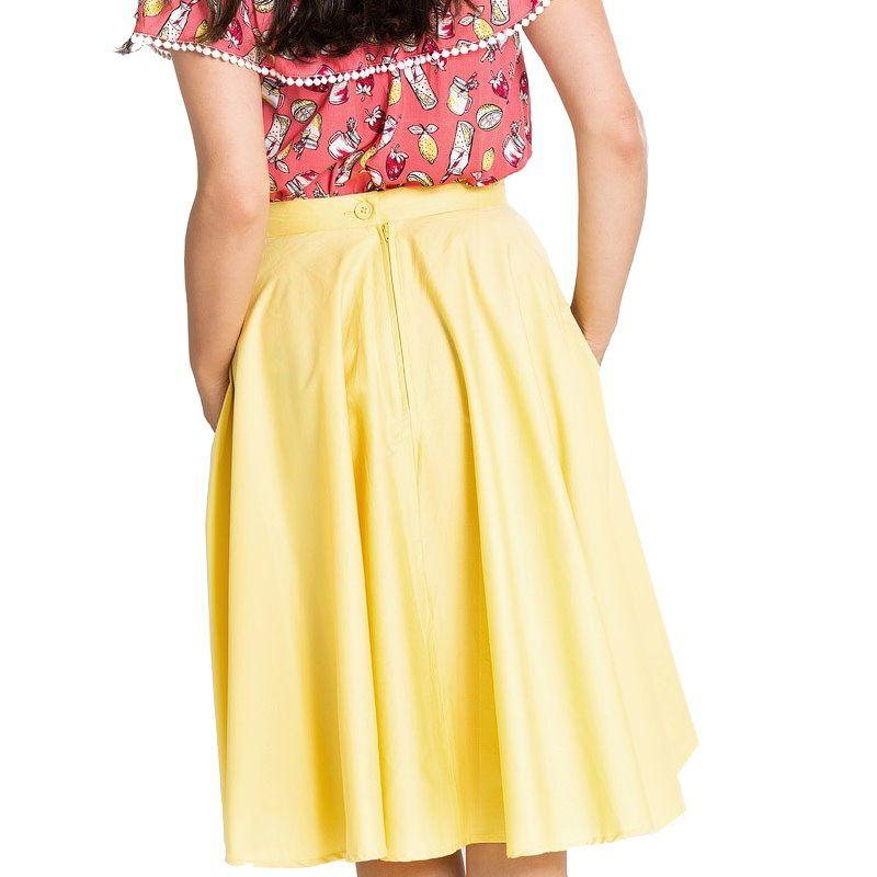 27547e1ba6 Swing Skirt, Paula 50s Yellow (5307)