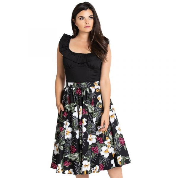 Swing Skirt, TAHITI Black (5433)