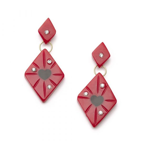 Earrings, SPLENDETTE Heartthrob Starburst