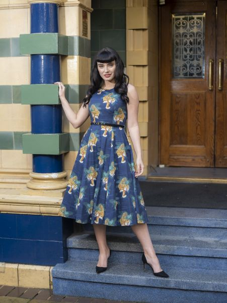 Swing Dress, HEPBURN Tigress