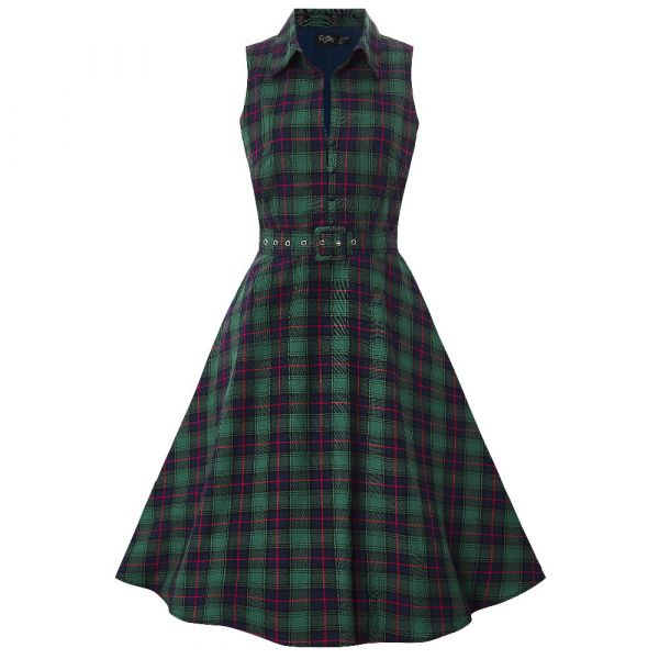 Swing Dress, POPPY Retro Green (701BC)