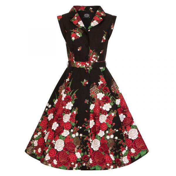 Kellomekko, HR Black Floral (8171)