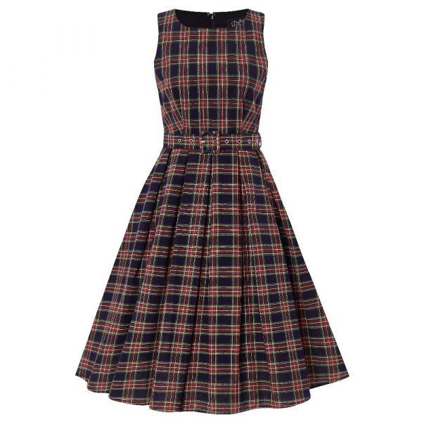 Swing Dress, ANNIE Dark Check (905DBBLCK)