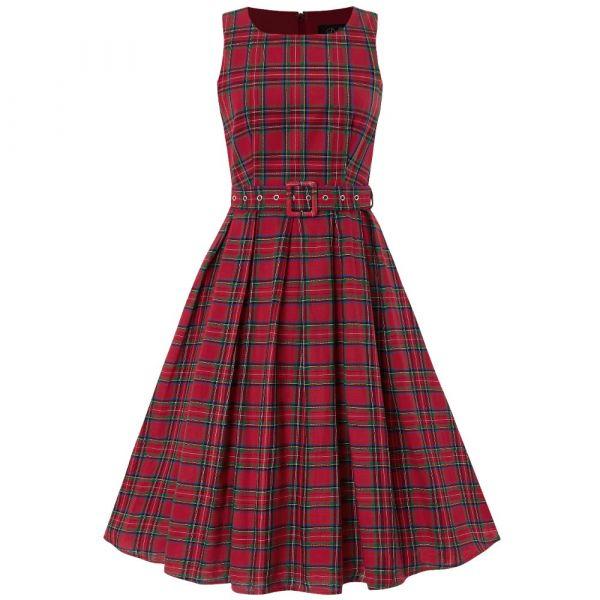 Swing Dress, ANNIE Red Checks (905RCK)