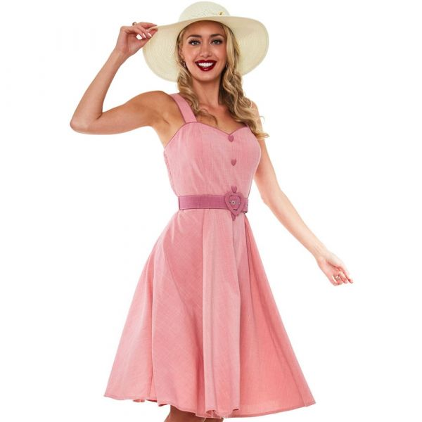 Swing Dress, FRENCHIE FLARE Pink (9302)