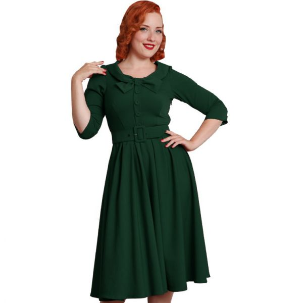 Swing Dress, Miss Candyfloss Geneva-Gia Emerald (943)